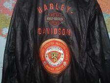 USMC 3RD MARINES VIET NAM LEATHER HARLEY DAVIDSON MOTORCYCLE JACKET EXTRA LARGE