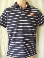 """NEW £40 SUPERDRY FRENCH NAVY & WHITE STRIPE JERSEY POLO SHIRT SMALL 36"""" CHEST"""