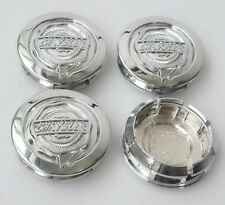 "4 NEW 2004-2010 Chrysler 54mm 2 1/8"" CHROME Center Caps FITS: 17"" X 7"" WHEELS"