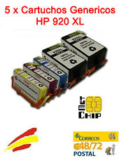5 Cartuchos de Tinta NON-OEM HP 920XL - Officejet 6500 A Plus