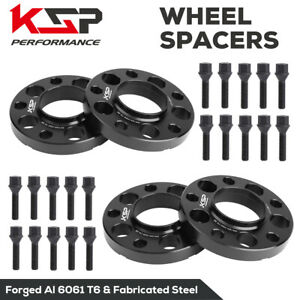 15mm 4PCS Wheel Spacers 5x120 72.56mm for BMW E36 E46 E90 E91 M3 E60 +20pc BOLTS