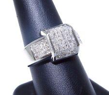 Mens 14k White Gold Princess Cut Invisible Setting 2.50ct Diamond Ring