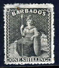 BARBADOS Queen Victoria 1870 One Shilling Black Wmk Large Star P15 SG 47 MINT