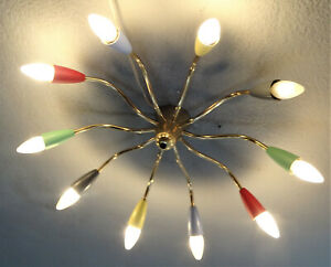 XL CHANDALIER 70cm spinne SPUTNIK tütenlampe stilnovo 50er 60er retro vintage
