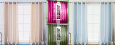 2Pc Grommet Panel Curtain Treatment Home Mira Bay Or Standard Windows Semisheer