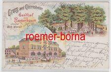 77636 Ak Lithographie Gruß aus Gerresheim Gasthof zum Rosenbaum 1901