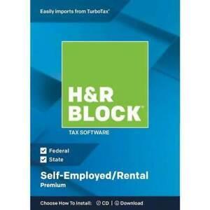 H&R Block Premium 2018 Self-Employed/Rental [NEW DVD]