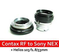 Contax RF KIEV RF to Sony NEX adapter with focusing part + HELIOS-103 f1.8/53mm