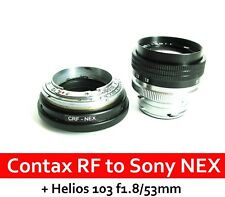 Contax RF KIEV RF to Sony NEX adapter with focusing part + HELIOS-103 f1.8/53mm