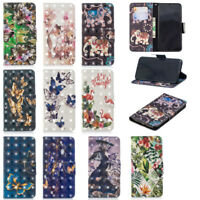 3D Bling Luxury Wallet PU Leather Card Holder Stand Case Cover For Sony Xperia