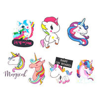 7PCS Unicorn Sticker Luggage Car Skateboard Laptop Phone DIY Decal Waterproof