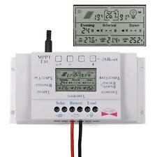 Neu Solar Laderegler Solarregler SOLARPANEL MPPW 40A LCD 12V/24V mit USB PW