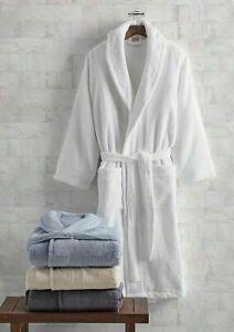 NEW Frette MILANO Terry BATH Robe Shawl Collar White L XL
