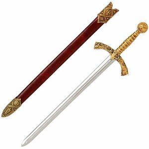 Knights Templar Sword Letter Opener & Scabbard  Quality Steel (F-3066)