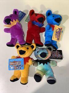 Grateful Dead Bear Plush Liquid Blue Cosmic Charlie Dark stars Lot Of 5 VTG 90s