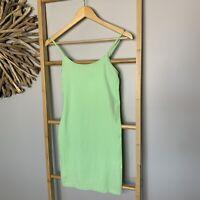 Seafolly Australia Size XS/S Nylon Singlet Dress Long Top Bodycon Neon Green