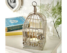light holder tea bird cage birdcage candle tealight metal hanging lantern home