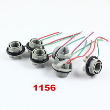 10Pcs 1156 7506 BA15S LED Bulb Signal Tail Brake Light Wiring Socket Harness
