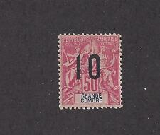 """GRAND COMORO 28a - MH-WIDE SPACING- 1912  - O/P  ON """"NAVIGATION AND COMMERCE"""" -"""