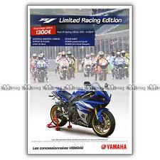 PUB YAMAHA R1 LIMITED RACING EDITION - Original Advert / Publicité Moto 2011
