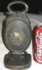 Antique Bradley Hubbard Cast Iron Flower Garden Basket Art Statue Doorstop B&H
