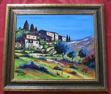 """Magnifique tableau de 1998 par ALAIN MOREAU rép artprice """"village provencal """""""