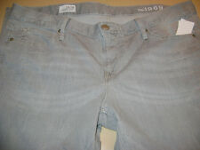 NWT WOMENS GAP 1969 CROPPED BOOT GRAY DENIM JEANS-SIZE 34/18