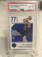 LUKA DONCIC 2018 Panini Chronicles #71 PSA 8 RC Rookie Card