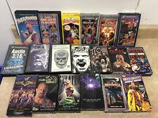 lot of 19 WWF WWE  VHS Videos Coliseum Hogan, stone cold, The Rock, Hulkamania