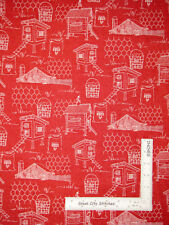 Hen Chicken Rooster Farm Red Tonal Cotton Fabric Windham Hen House By The Yard