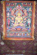 Gr.Thangka,Tibet,versch.Buddhadarstellungen,sehr feine Miniaturmalerei,122x78cm