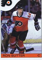 Ron Sutter 1985 Topps Autograph #6 Flyers