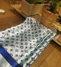 Louis Vuitton Monogram Scarf**100% Silk** Blue