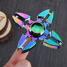 Rainbow EDC Alloy Fidget Hand Spinner Finger Focus ADHD Autism Kids Toy Gyro