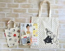NEW MOOMIN FAMILY x NIMES Funny Tote Bag 3 pieces Set from Japan Magazine
