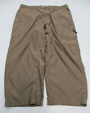 COLUMBIA #PA2153 Men's Size 40 x 32 Casual Hiking Flat Front Brown Pants