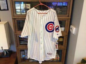 NWT Aramis Ramirez #16 Chicago Cubs SEWN MAJESTIC Authentic Jersey SZ 52 (XL)