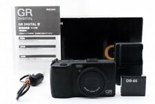 RICOH GR 16.2MP Digital Compact Camera Black AF 18.3mm F2.8 Lens LCD Box