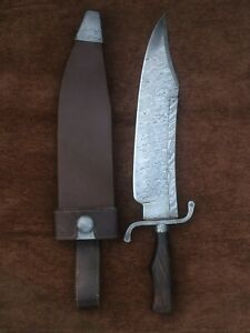 Custom Handmade Damascus Steel Alamo Musso Bowie Knife, True Replica,Jim Bowie
