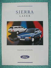 Ford Sierra Laser Saloon & Estate brochure 1989