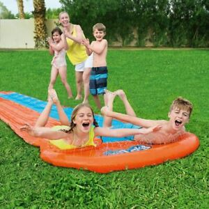 Kids Inflatable Water Slide Outdoor Splash Play Toy Double Slides Smooth Surface