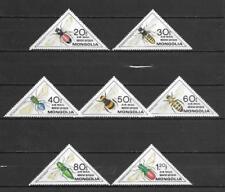 Francobolli a tema insetti e farfalle, in Mongolia