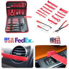 19Pc Car Panel Dashboard GPS Radio Trim Set Fastener Remover Tool Clip Plier Kit