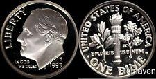 1993 S 90% Silver Roosevelt Dime Deep Cameo Gem Proof No Reserve