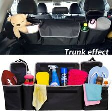 2IN1 Car Trunk Backseat Storage Bag Organizer Durable Oxford Cloth High Capacity