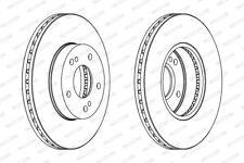 2X FRONT BRAKE DISCS FITS NISSAN 300 ZX Z31 3.0 (TURBO) 01/84 - 10/90