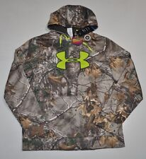 UNDER ARMOUR MEN'S MEDIUM COLDGEAR INFRARED CAMO HUNT BIG LOGO HOODIE NWT