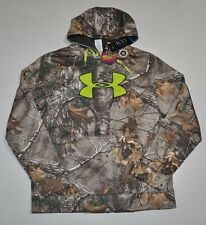 UNDER ARMOUR MEN'S XL COLDGEAR INFRARED CAMO HUNT BIG LOGO HOODIE NWT