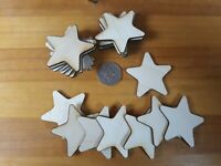 20x 50mm (5cm) STAR SHAPES blanks 3mm - PLY SHAPES CRAFT TAG DIY Decoration