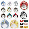 Ladies twist knot pattern headband elastic head wrap turban hair band summer